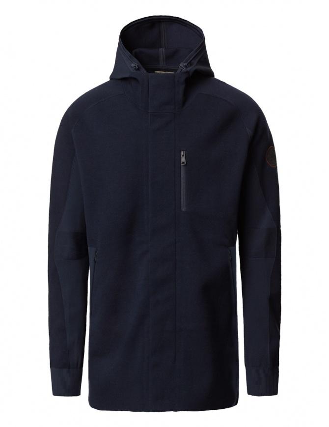 Ze-Knit by Napapijri Ze-101 hooded jacket in blu N0YHUW176-ZE-K101-BLU-MARINE mens jackets online shopping
