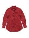Camicia Kapital rossa di lino con ruffles acquista online K1809LS036 RED