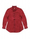 Kapital red linen shirt with ruffles buy online K1809LS036 RED