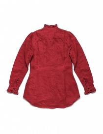 Kapital red linen shirt with ruffles