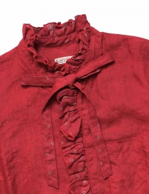 Kapital red linen shirt with ruffles price