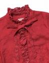 Camicia Kapital rossa di lino con ruffles K1809LS036 RED prezzo