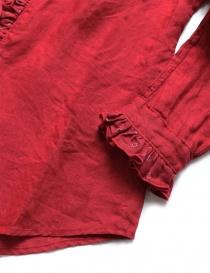 Camicia Kapital rossa di lino con ruffles camicie donna acquista online
