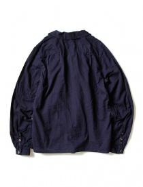 Camicia Kapital blu indaco con ruffles