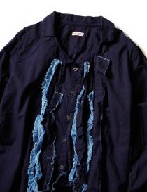 Camicia Kapital blu indaco con ruffles prezzo
