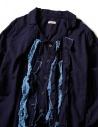 Camicia Kapital blu indaco con ruffles EK-640-IDG prezzo