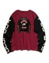 Kapital burgundy and black long sleeved T-shirt shop online mens t shirts