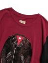 Kapital burgundy and black long sleeved T-shirt 1809LC046 BURGUNDY buy online