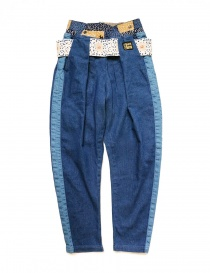 Kapital trousers in denim fabric K1809LP079-IDG order online
