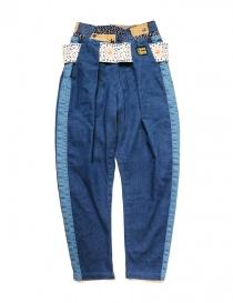 Pantalone Kapital in tessuto denim online