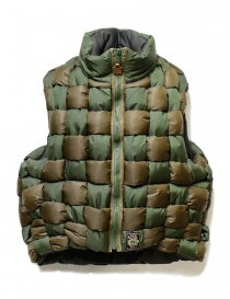 Mens jackets online: Kapital military green sleeveless bomber