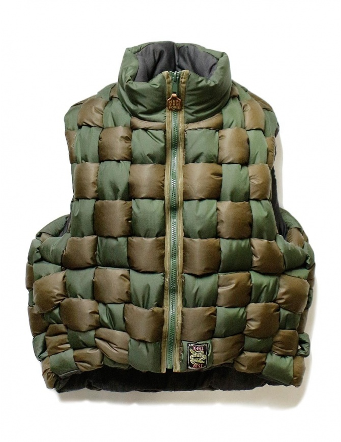 Bomber smanicato Kapital verde militare K1812SJ240 KHAKI giubbini uomo online shopping