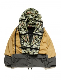 Mens jackets online: Kapital Kamakura mustard and grey jacket