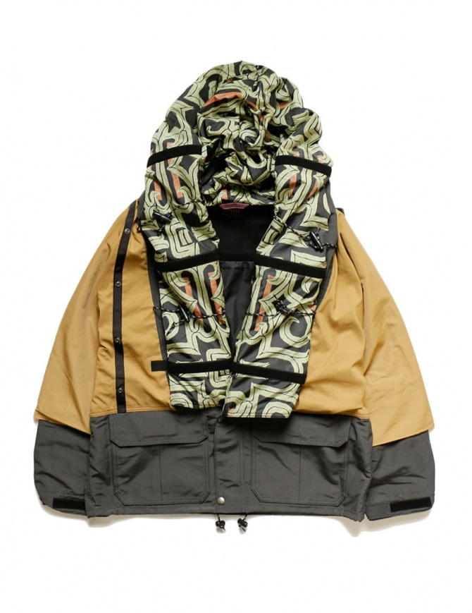 Kapital Kamakura mustard and grey jacket K1803LJ045 GRAY BLOUSON mens jackets online shopping