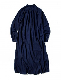 Kapital blue indigo dress with rouches