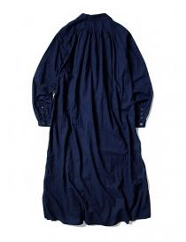 Kapital vestito blu indaco con rouches