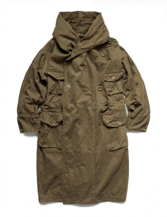Kapital long coat khaki EK-448-KHAKI mens coats online shopping