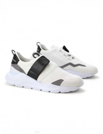 Leather Crown MLCBN white black gray sneakers MLCBN-AERO-BIANCO-NERO-REFLEC order online
