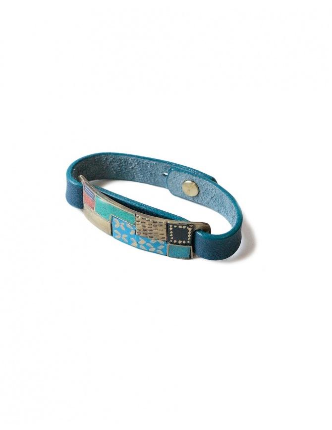 Kapital leather bracelet K1805XG594-NAVY-BRACELET jewels online shopping