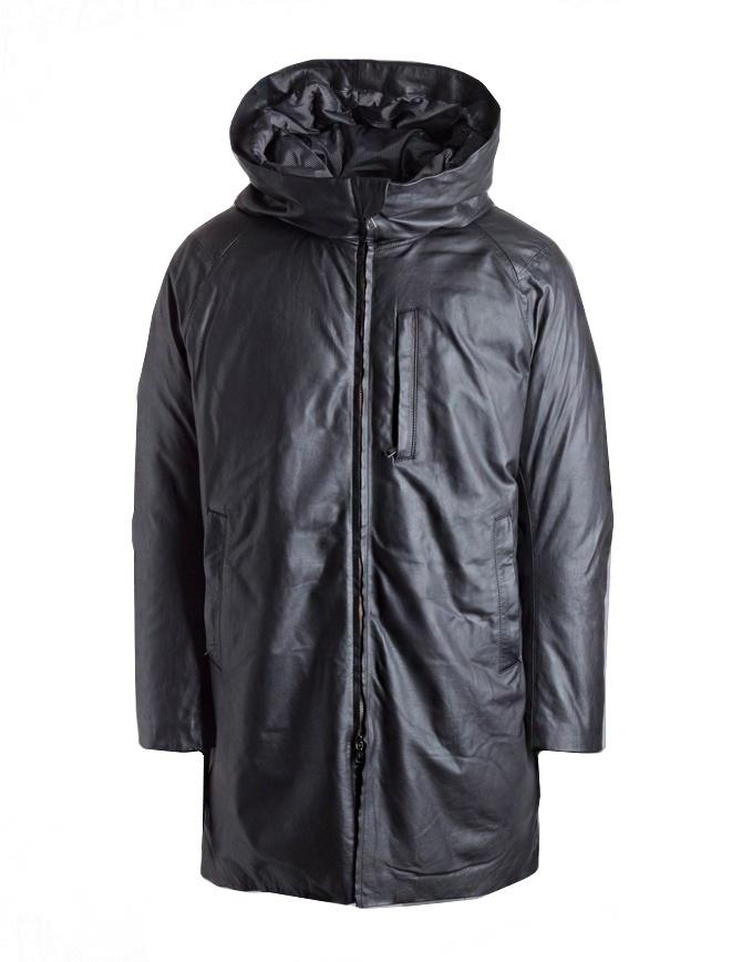 John Varvatos leather parka L1166U3-Y1373-BLK-001 mens jackets online shopping