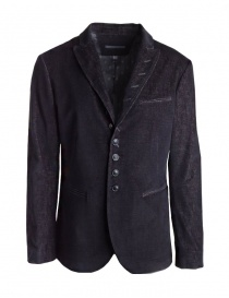 Mens suit jackets online: John Varvatos black/burgundy corduroy velvet jacket
