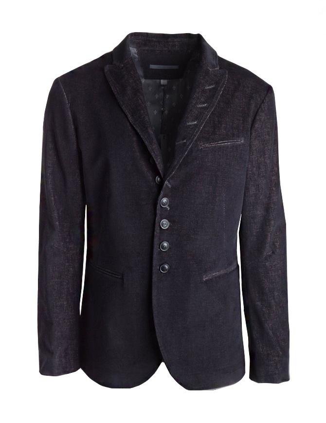 John Varvatos black/burgundy corduroy velvet jacket JVS0954U3-ASPB-COL.001 mens suit jackets online shopping