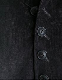 Giacca John Varvatos in velluto a coste nero-bordeaux giacche uomo prezzo