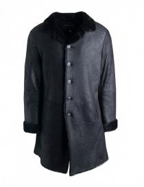 Cappotto John Varvatos in pelle di agnello nero online