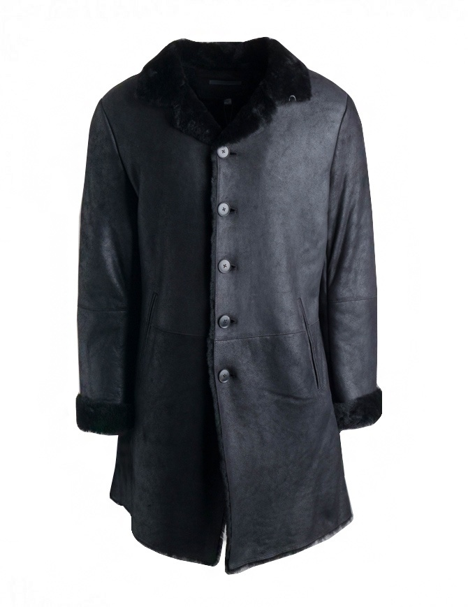 John Varvatos coat in black Spanish lambskin L732U3-Y1342-COL.001 mens coats online shopping