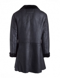Cappotto John Varvatos in pelle di agnello nero