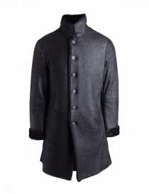Cappotto John Varvatos in pelle di agnello nero prezzo