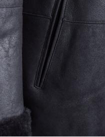 Cappotto John Varvatos in pelle di agnello nero cappotti uomo acquista online