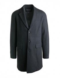 John Varvatos cappotto in lana grigio da uomo 01740U3-BMBR-COL.001