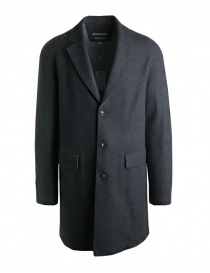 John Varvatos coat for man in grey wool 01740U3-BMBR-COL.001 order online