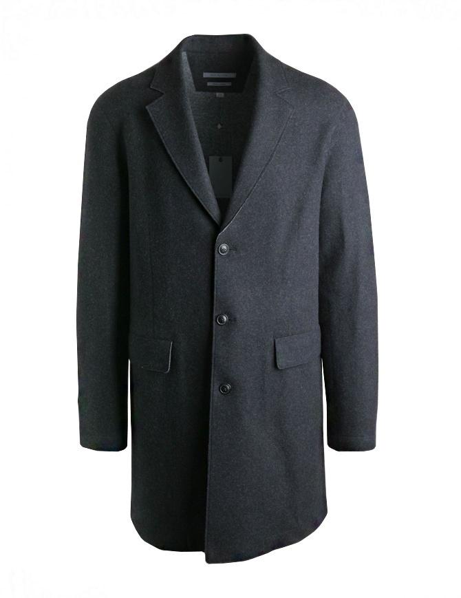 John Varvatos coat for man in grey wool 01740U3-BMBR-COL.001 mens coats online shopping