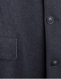 John Varvatos cappotto in lana grigio da uomo prezzo