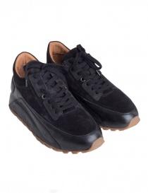 Mens shoes online: John Varvatos LES Trainer black sneakers