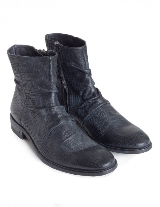 John Varvatos black leather boots F1158U2-Y1352-COL.001 mens shoes online shopping