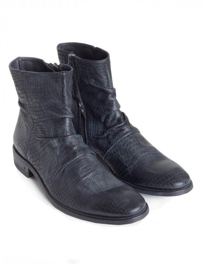 Stivaletto John Varvatos in pelle nera F1158U2-Y1352-COL.001 calzature uomo online shopping