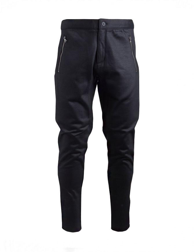 John Varvatos black jogger trousers K2374U3-BLV21-COL.001 mens trousers online shopping