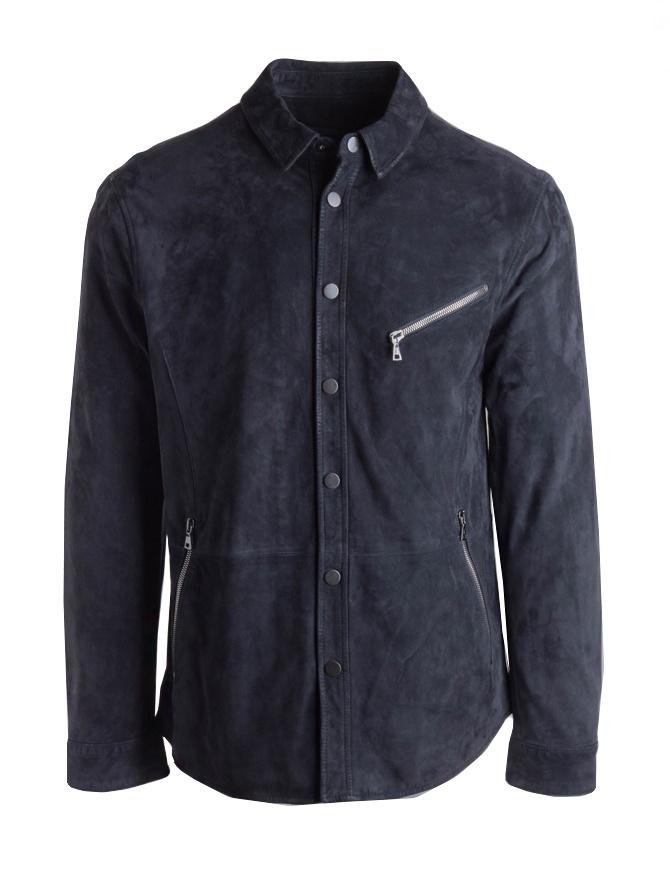 John Varvatos black suede jacket L665P4-Y455-COL.414 mens jackets online shopping