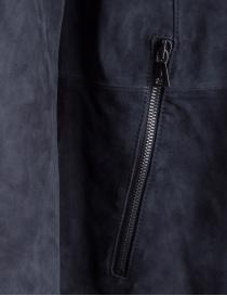 Giacca John Varvatos in pelle scamosciata nera giubbini uomo acquista online