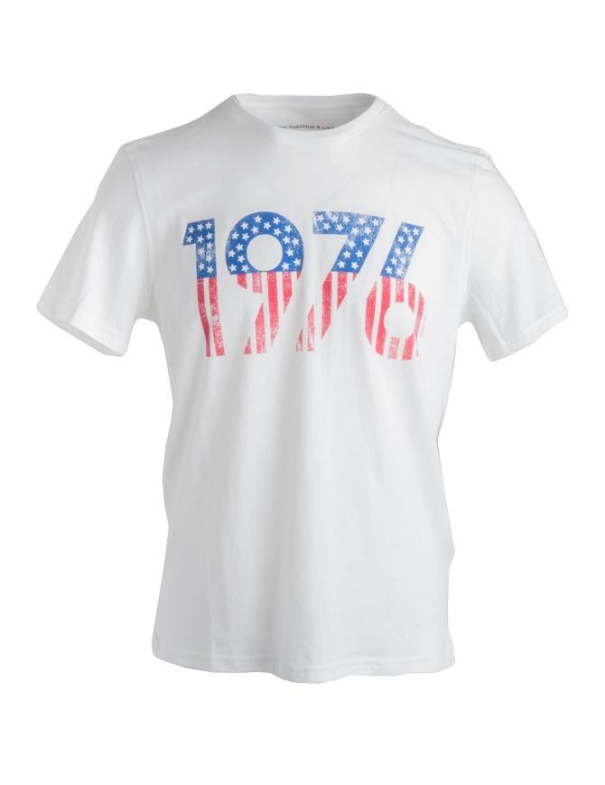 T-shirt John Varvatos 1976 bianca KG3895U2B-KW3B1-COL.103 t shirt uomo online shopping
