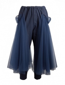 Miyao trousers with tulle MP-P-04 NAVY X NAVY order online
