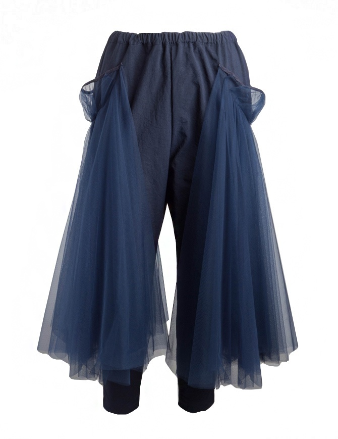 Miyao trousers with tulle MP-P-04 NAVY X NAVY womens trousers online shopping