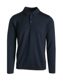 Goes Botanical blue long sleeve polo shirt online