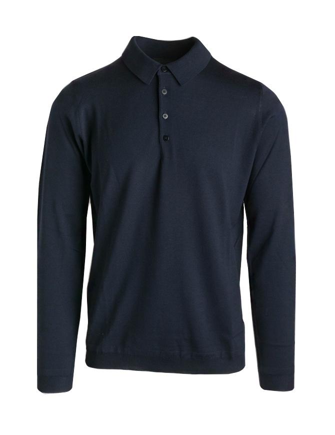 Goes Botanical blue long sleeve polo shirt 103 3343 BLUE ex men s polo shirts usa t shirt online shopping