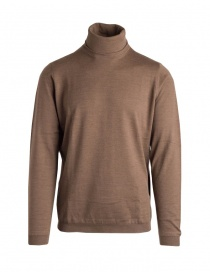 Mens knitwear online: Goes Botanical brown turtleneck sweater