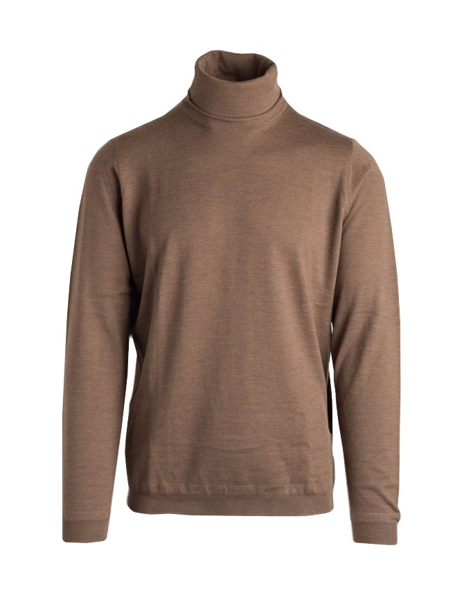 Goes Botanical brown turtleneck sweater 104 1009 MARRONE mens knitwear online shopping