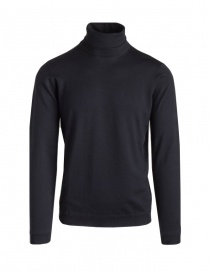 Mens knitwear online: Goes Botanical black turtleneck sweater